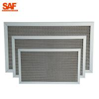 Quality Corrugated Aluminium Air Filter , G2 G3 Air Filter High Efficiency 1 Year Warranty wholesale