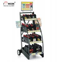 China Custom Brand Retail Store Fixtures Oil Rack Lubricant Display Motor Oil Display Stand on sale