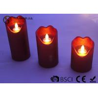 Quality Energy Saving Dancing Flame Led Candle With Moving Wick 210 / 280 / 320g wholesale