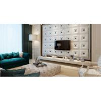 Quality Wall Art Decals Leather Fabric Wall Panel / 3 Dimensional Wallpaper for Interior Wall Paneling wholesale
