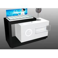 Cheap Contemporary Style Makeup Counter Display / Cosmetic Display Showcase With Locks for sale