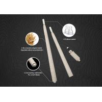 Quality Champagne Disposable Micropigmentation Pen Manual Eco - Holder With Pigment Brush wholesale