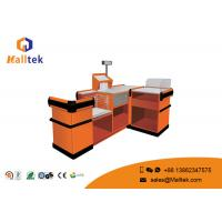 Quality 201 Ss Supermarket Checkout Table Customoized Smooth Powder Coating Pegboard wholesale