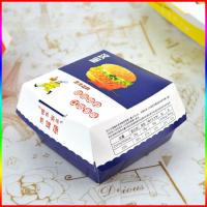 China Fast food cardboard hamburger paper box on sale