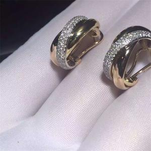 China C Three circle ring earrings18K white gold, 18K yellow gold, 18K rose gold, diamond. Model: B8045300 on sale