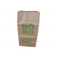 China Custom Kraft Paper Bags Square Bottom Moistureproof Large Paper Leaf Bags on sale