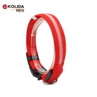 Quality Christmas Polyser Dog Led Collars / LED Flashing Pet Collar For Dogs And Cats wholesale