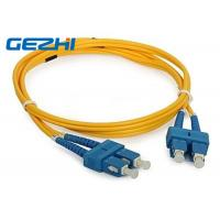 Buy cheap 3D Passed optical patch cord SC / UPC - SC / UPC single mode fiber jumpers from wholesalers