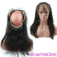 China Brazilian Virgin Straight Hair Lace Closure Natural Hair 360 Lace Band With Baby Hair on sale
