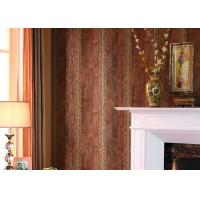 Buy cheap Waterproof European Style Wallpaper Home Decor For Living Room , Cobblestone / Wood Grain Pattern from wholesalers
