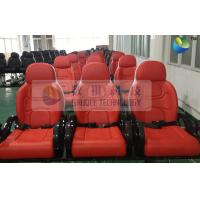 Quality Red Color Motion Theater Chair , With Air And Water Effects wholesale