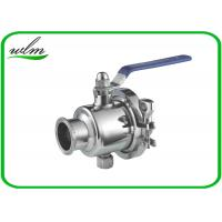 Quality Pharmaceutical Sanitary Ball Valves With Clamp Connection Ends , Diameter DN15-65 wholesale