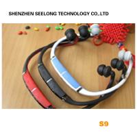 Quality Red Headband Mono Bluetooth Headset Two Way Radio With 10M Working Distance wholesale