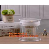 China clear cylinder circular promotional storage pvc zipper closure cosmetic bags, barrel bags, cylinder packing vacuum cup p on sale