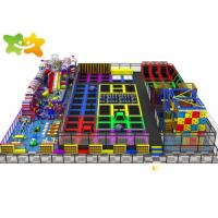 Quality Large Size Trampoline Park Equipment Multi Function High Safety Low  Maintenance wholesale