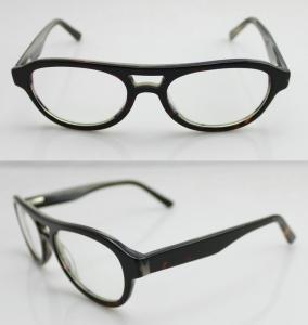 Cheap Fashion Oval Acetate Mens Eyeglasses Frames, Leopard Acetate Optical Glasses for sale