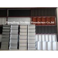 China 0.4mm Al - Zinc Stone Coated Roof Tile Machine With Auto Face Glue Spraying System on sale