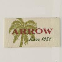 Quality Personalized Satin Sewing Woven Neck Labels For T Shirts 3/4 X 2 1/2 wholesale