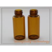Quality 15ml Amber Glass Vial With Aluminum Scrwe Cap , D25mm × H58mm wholesale