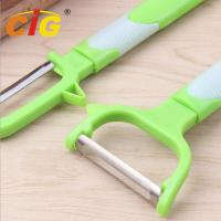Quality Multifunctional Stainless Steel Peeling Knife , Plastic Melon Grater Apple Peeler wholesale