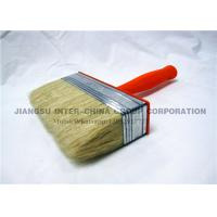 OEM / ODM Ceiling Wall Paint Brush , Synthetic Bristle Brush With Plastic Handle