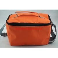 Quality Eco friendly orange reusable built lunch shoulder bag for hiking camping wholesale