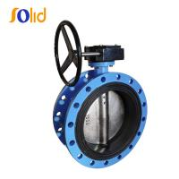 China DI/CI Flanged Butterfly Valve with Rubber Lined Body on sale