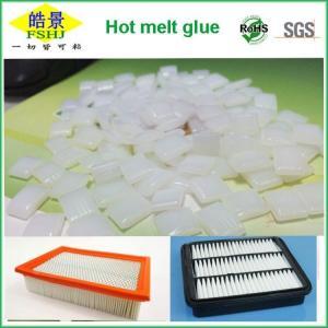 Cheap EVA White Edgebander Glue Pellets Hot Melt Adhesive Granule For Air Filter for sale