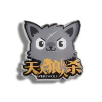 China Cartoon Wolf Epoxy Metal Promotional Fridge Magnets As Souvenir Items on sale