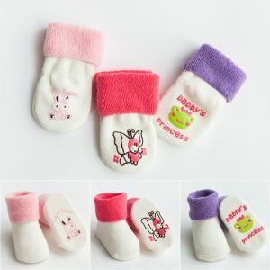 Quality Custom logo, design cute babes pure cotton non-slip socks wholesale