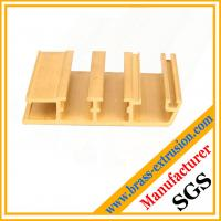 China copper alloy solid window and door frame brass extrusions profiles sections on sale