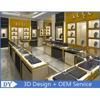 Cheap Stainless Steel Jewelry Showcase / Jewelry Wall Display Cases for sale