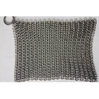 Quality 6*8 Inch Stainless Steel  Cast Iron Skillet Cleaner Chainmail Scrubber For Cast Iron Pan wholesale