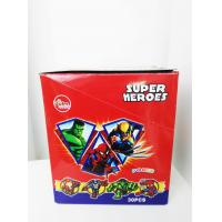 Super Heroes Fruit Powder Candy With Poker Healthy And Funny