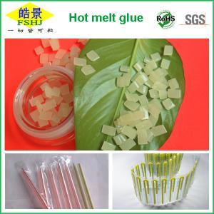Quality EVA Hot Melt Packaging Light Yellow Granule , Beverage Drink Packaging Adhesive Glue wholesale