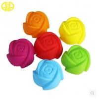 Quality Food Grade Silicone Cupcake Molds Colored For Making Sweety Cakes wholesale