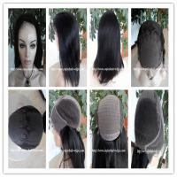 China Human hair lace front wig 13''x4''silk 4''x4'' indian remy yaki  hair,120%-180% density on sale