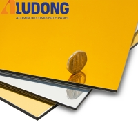 China 3MM Gold Silver Mirror Aluminum Composite Panel PE Coating on sale