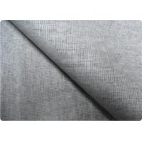Quality Grey Linen Upholstery Fabric Sportswear / Curtain Lining Fabric wholesale