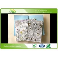 Quality Children Spiral Bound Notebook With Monochrome Picture 70gsm Recycled Paper wholesale
