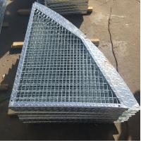 Quality Outdoor Anti Slip Galvanized Bar Grating , 30 * 3mm Metal Grid Flooring wholesale