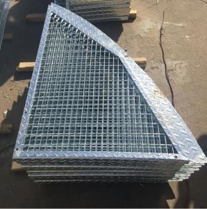 Cheap Outdoor Anti Slip Galvanized Bar Grating , 30 * 3mm Metal Grid Flooring for sale