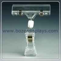 """POP Rotating Sign Clip - Clear Plastic - 4"""" Sign Clip for sale"""