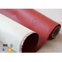 Quality 800℃ 0.8mm Red Silicone Coated High Silica Fabric For Heat Insulation wholesale