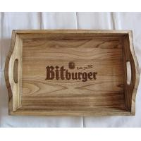 China Wooden trays for beer bottle, Paulownia wood tray, oiled finish tray on sale