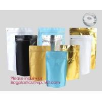 Quality Online Product 135*265*75MM Stand Up Zipper Pouch Aluminum Foil Square Bottom Coffee Bags With Valve/ bagplastics bageas wholesale