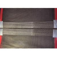 Quality Fiberglass Wire Mesh Teflon Conveyor Belts For Oven With Red Wedge And Joint wholesale