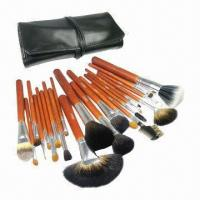 China Professional High-quality New Design 22 Pieces Kolinsky Hair Walnut Cosmetic Brush Set on sale