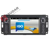 Quality 6.2 Inch Car Dvd Player GPS Navigation , Android Auto Head Unit For JEEP / Chrysler / Dodge wholesale