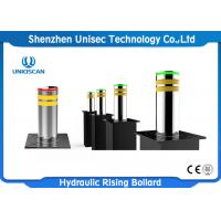 Quality Ss Rising Road Blocker , Automatic Lifting Retractable Security Bollards wholesale